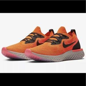 Nike Epic React Flyknit Copper Flash Shoes Sz 14
